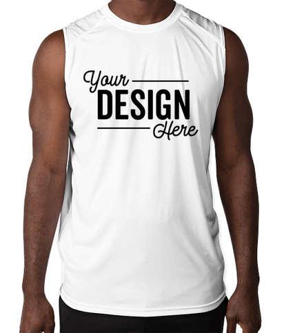 Badger B-Dry Sleeveless Performance Shirt - White