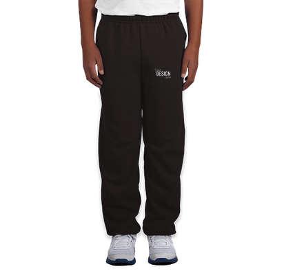 Canada - Gildan Youth Midweight 50/50 Sweatpants - Black