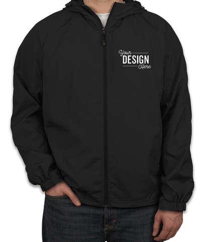 Sport-Tek Full Zip Hooded Jacket - Black