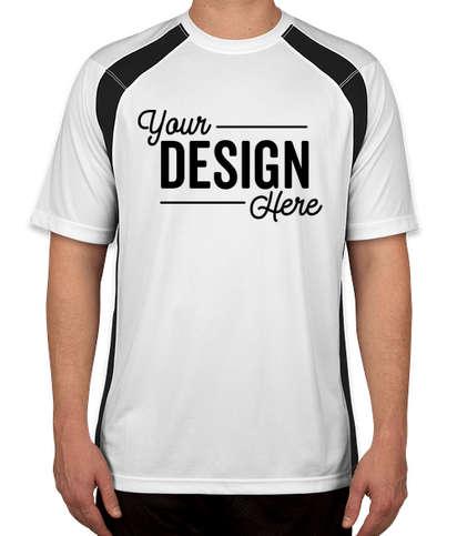 Sport-Tek Colorblock Performance Shirt - White / Black