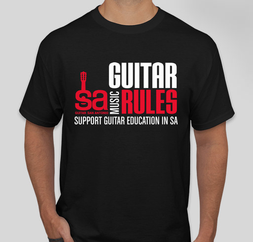 Guitar san antonio t shirt fundraiser custom ink fundraising for Custom t shirt printing san antonio