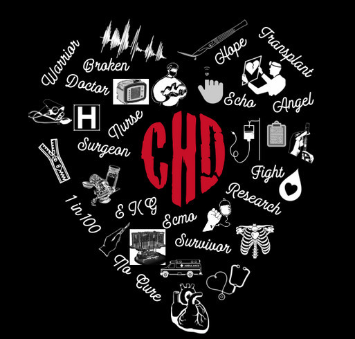 Keep the Beat and rock the fight against congenital heart disease! shirt design - zoomed