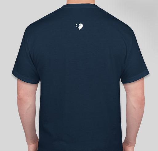 IGAN WARRIORS NEVER GIVE UP Fundraiser - unisex shirt design - back