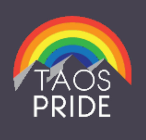 Taos Pride Rainbow shirt design - zoomed