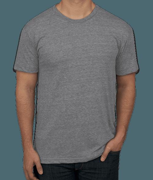 American Apparel USA-Made Tri-Blend Track T-shirt - Athletic Grey