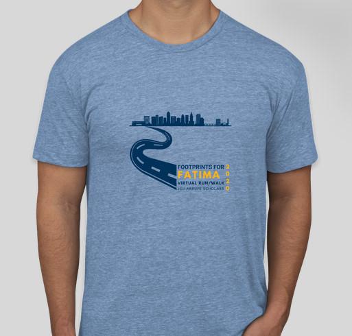 Footprints for Fatima 2020--John Carroll University Fundraiser - unisex shirt design - front