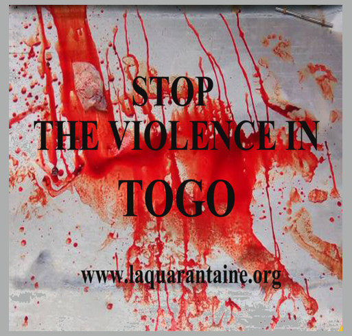 People in Togo are getting shot for seeking Freedom and Democracy. They need your support! shirt design - zoomed
