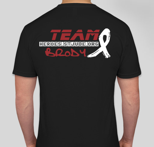 Teambrodyheroes custom ink fundraising for St jude marathon shirts