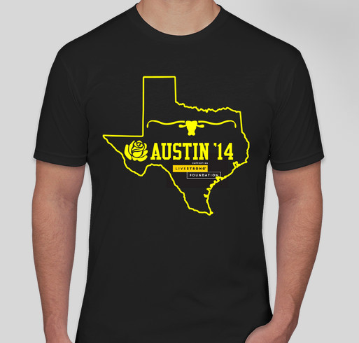 Austin challenge ride for the roses fundraising t shirt for Custom t shirts austin texas