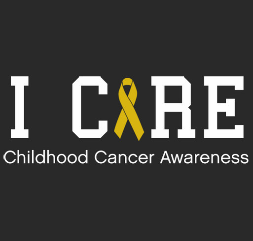 Who Cares - Childhood Cancer Awareness shirt design - zoomed