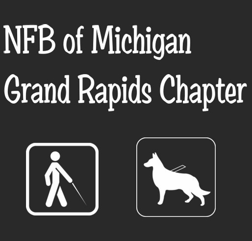 National Federation of the Blind of Michigan- Grand Rapids Chapter shirt design - zoomed
