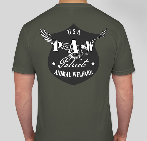 USA PAW Disaster Relief Official Shirt Fundraiser - unisex shirt design - back