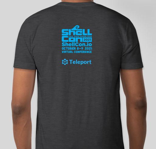 ShellCon 2021 Fundraiser - unisex shirt design - back