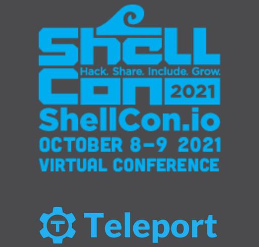 ShellCon 2021 shirt design - zoomed