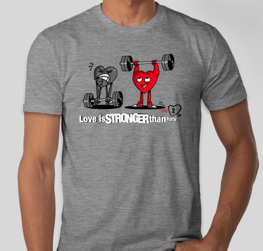 Free2Luv Fundraiser - unisex shirt design - back
