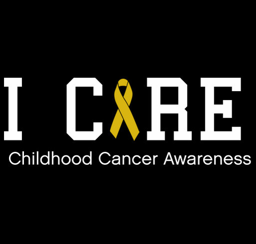 Who Cares - Childhood Cancer Awareness shirt design - zoomed