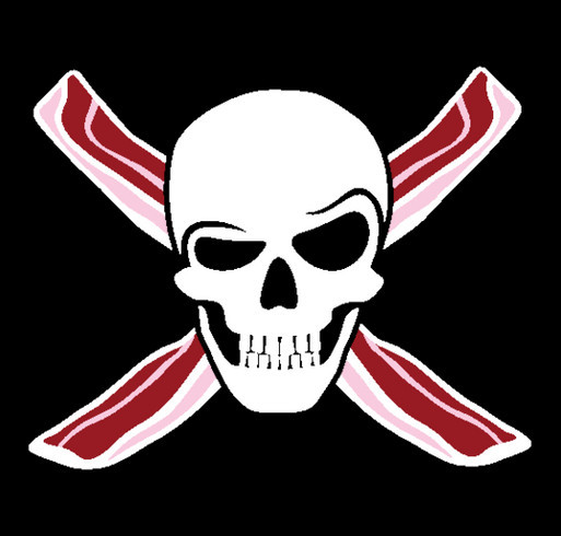 Get a T-Shirt, Boost a Bacon Pirate & Domestic Abuse Survivor shirt design - zoomed