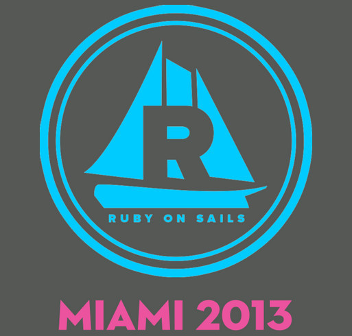 Ruby on Sails Miami 2013 shirt design - zoomed
