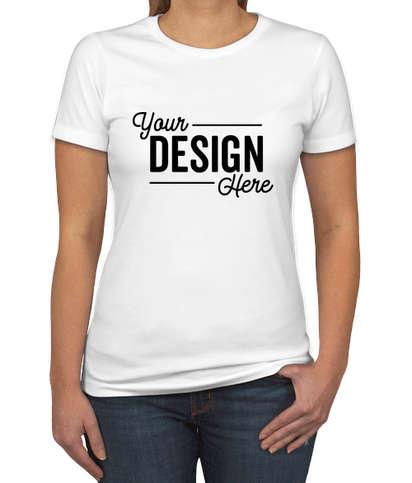Next Level Women's Slim Fit Jersey Blend T-shirt - White