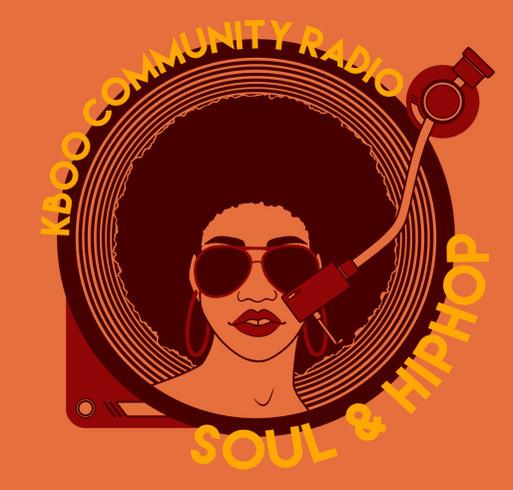 KBOO Soul & Hip Hop Marathon Limited Edition T-shirt shirt design - zoomed