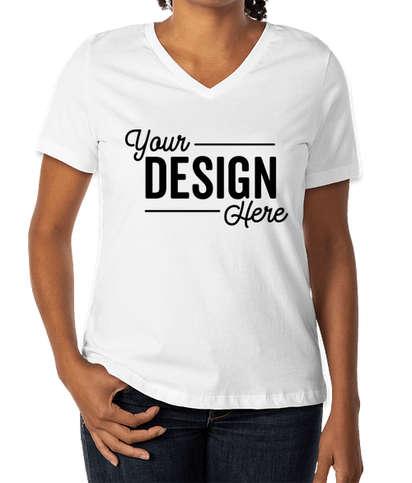 Bella + Canvas Women's Jersey V-Neck T-shirt - White