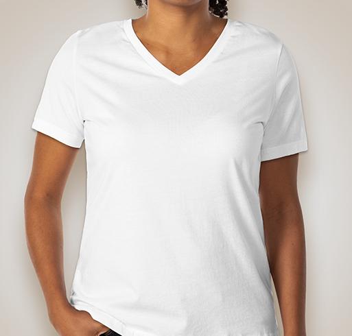 Bella Ladies V-Neck T-shirt - White