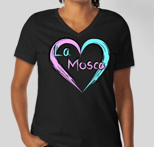 Paint Love in La Mosca Fundraiser - unisex shirt design - front