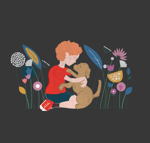 Jack's Service Dog shirt design - zoomed