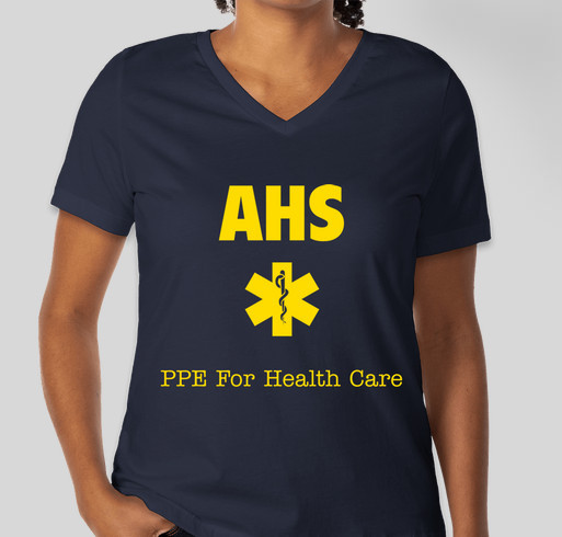 Andover High Students 3D Printed Face Shields for Frontline Workers Fundraiser - unisex shirt design - front
