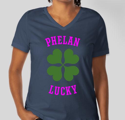 PHELAN LUCKY 2016 Fundraiser - unisex shirt design - front