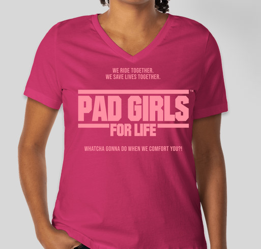 Get Your PAD GIRLS GEAR and Help Us Get to the Gumball 3000 Fundraiser - unisex shirt design - front
