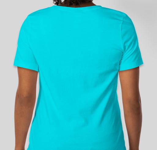Show your love of yoga. Fundraiser - unisex shirt design - back