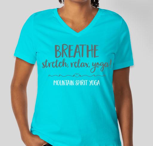 Show your love of yoga. Fundraiser - unisex shirt design - front