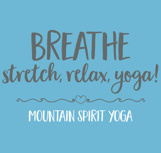 Show your love of yoga. shirt design - zoomed