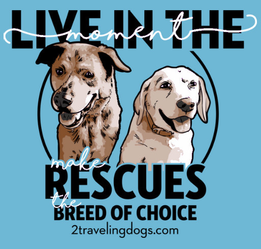 """The 2 Traveling Dogs """"Live In The Moment"""" Tour shirt design - zoomed"""