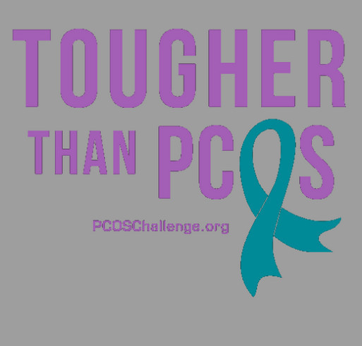PCOS STRONG shirt design - zoomed