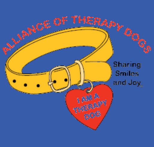 Alliance of Therapy Dogs shirt design - zoomed