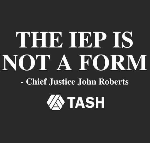 The IEP is Not a Form Campaign shirt design - zoomed
