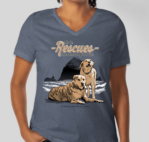 Make Rescues The Breed Of Choice Fundraiser - unisex shirt design - front