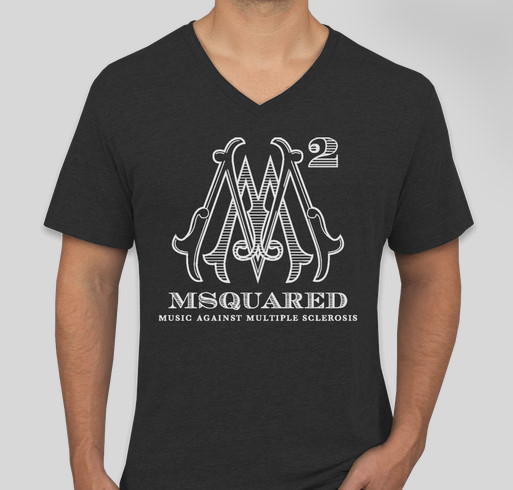 MSquared: Music Against Multiple Sclerosis Fundraiser - unisex shirt design - front