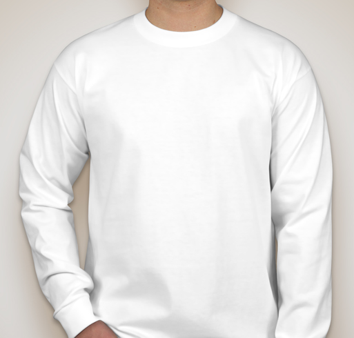 Bayside 100% Cotton Long Sleeve T-shirt - White