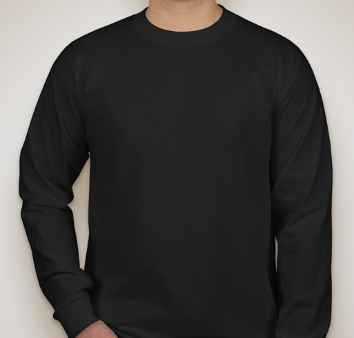 Bayside 100% Cotton Long Sleeve T-shirt - Black