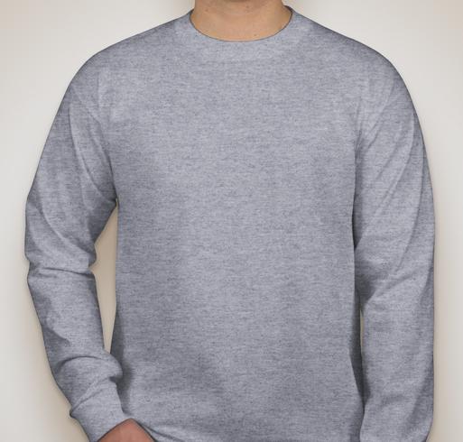 Bayside 100% Cotton Long Sleeve T-shirt - Dark Ash