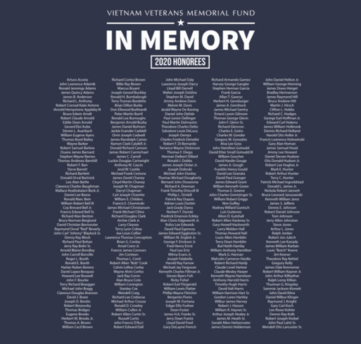 The 2020 In Memory Honoree Shirt shirt design - zoomed