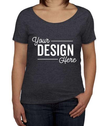 Anvil Women's Lightweight Scoop Neck T-shirt - Heather Dark Grey