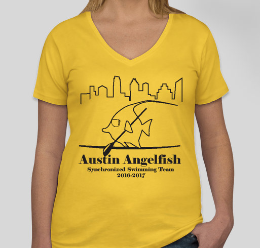Austin angelfish sponsor t shirts custom ink fundraising for Sponsor t shirt design