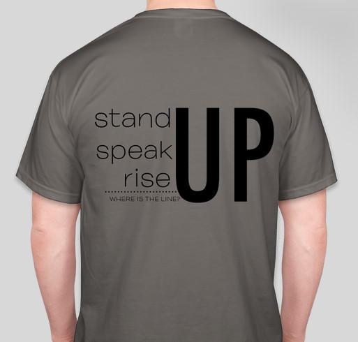 Where is the Line? Holiday Fundraiser Fundraiser - unisex shirt design - back