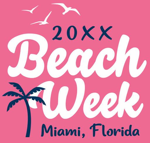 Beach Week design idea