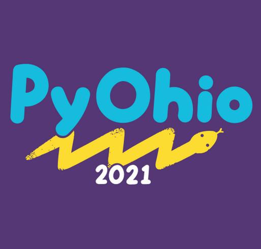 PyOhio 2021 shirt design - zoomed