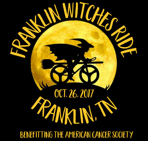 2nd Annual Franklin Witches Ride shirt design - zoomed